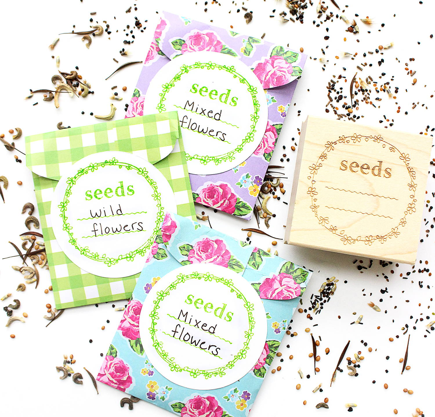 DIY Stamped Seed Packets | RubberStamps com