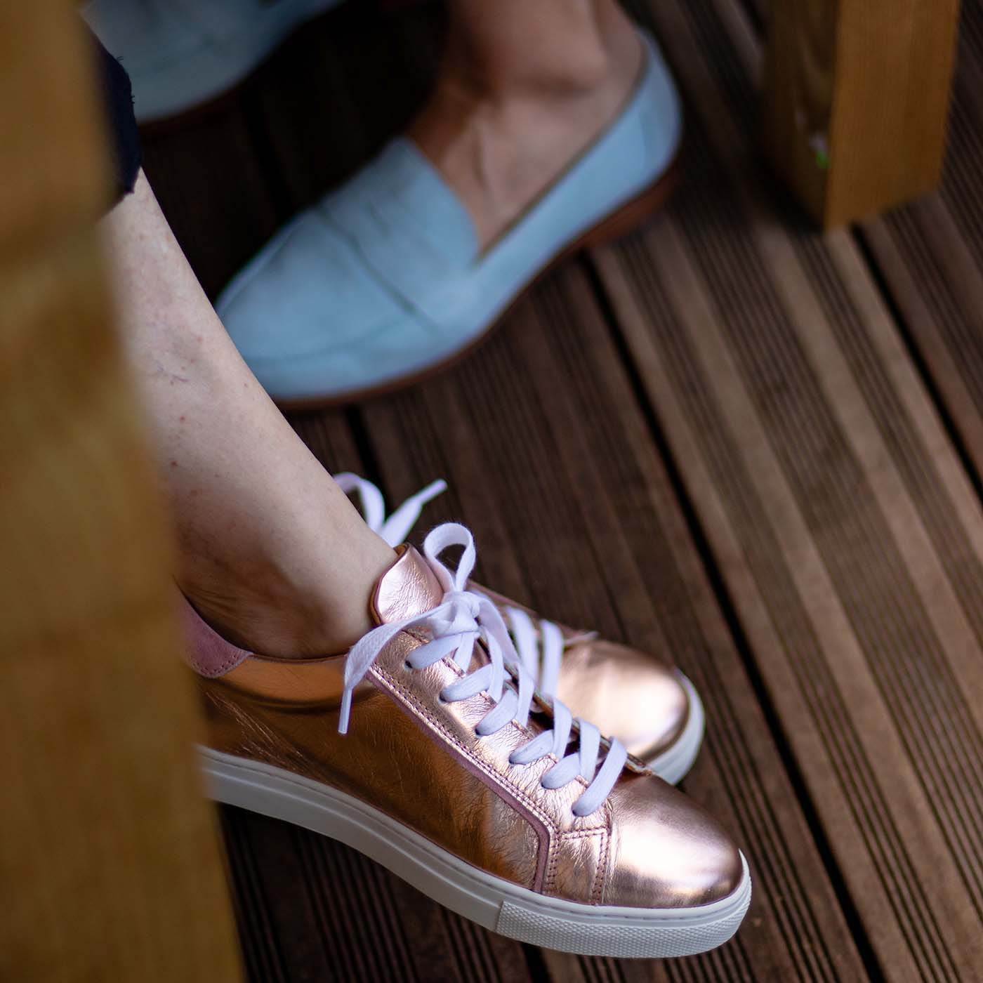 Sneakers semelles orthopédiques femme hallux valgus