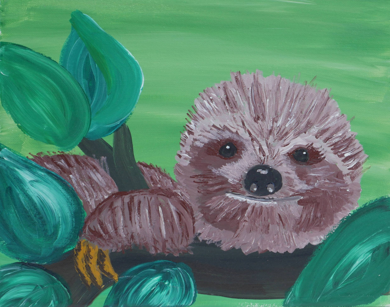 Zofia The Sloth Paint & Sip Kit