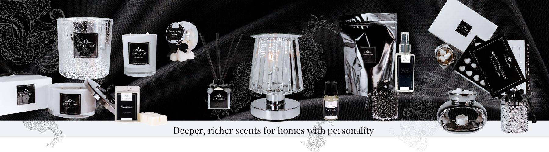 Nero Collection - deeper richer scented candles, wax melts, reed diffusers and more