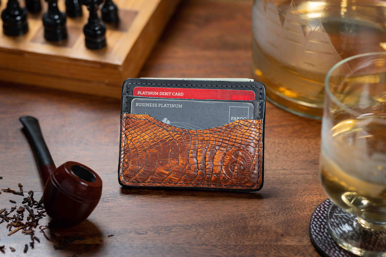 mens alligator wallet
