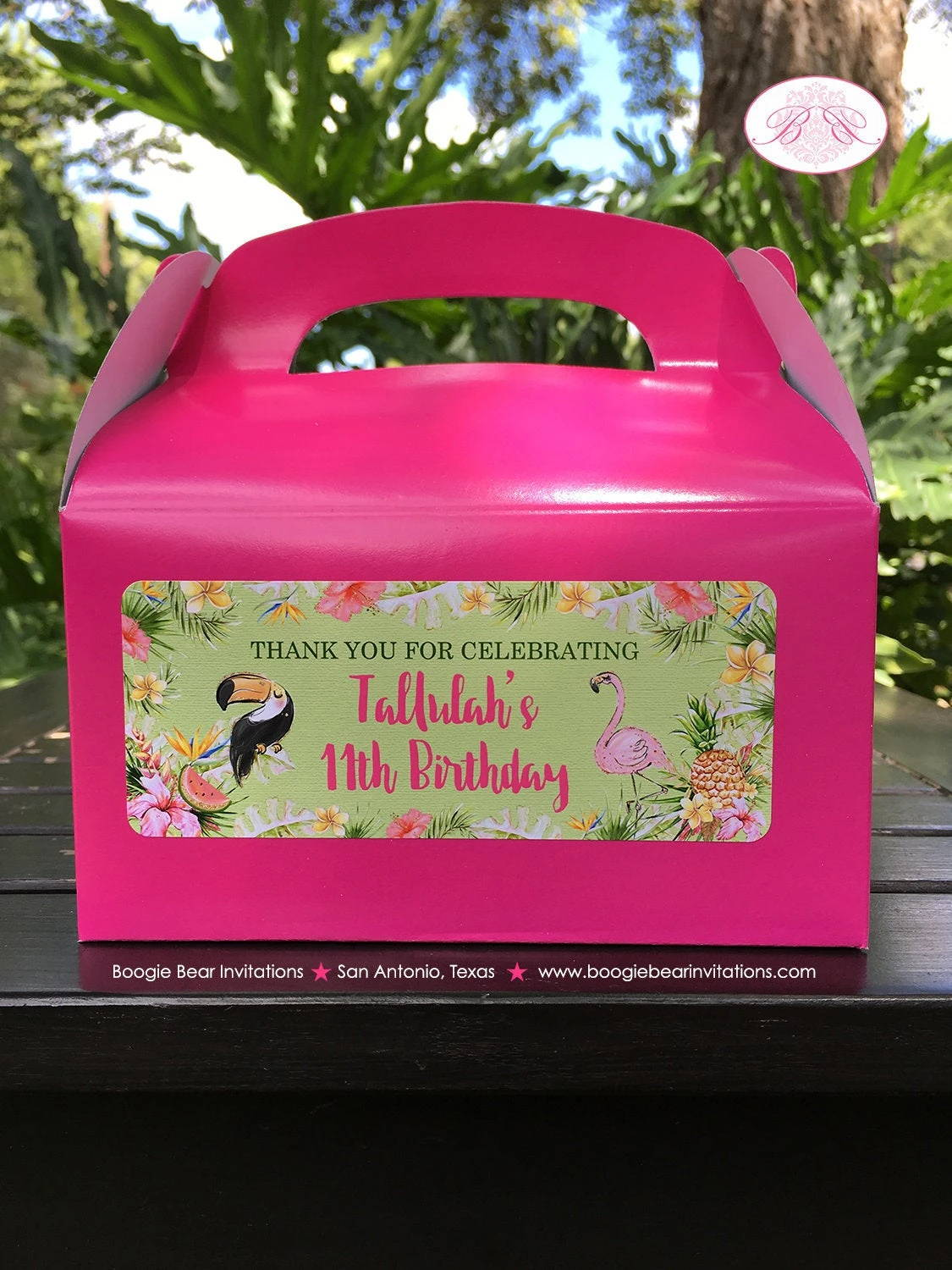 Tropical Paradise Tallulah Theme Birthday Party Treat Boxes