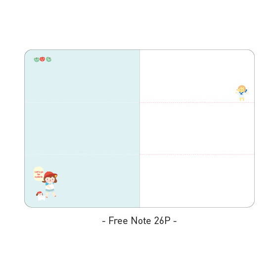 Free note - Ardium 2020 Hello little coco dated monthly diary planner