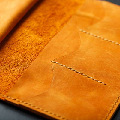 Top Grain Leather Book Cover