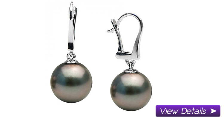 Black Pearl Dangle Earrings