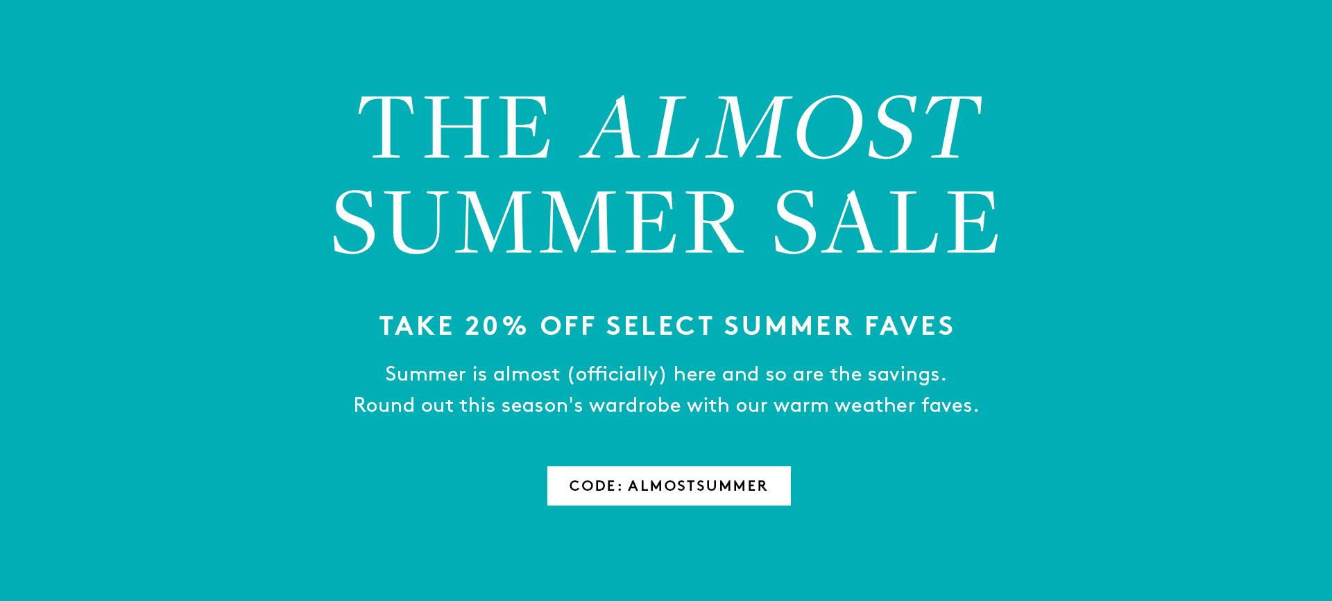 Shop Almost Summer Sale