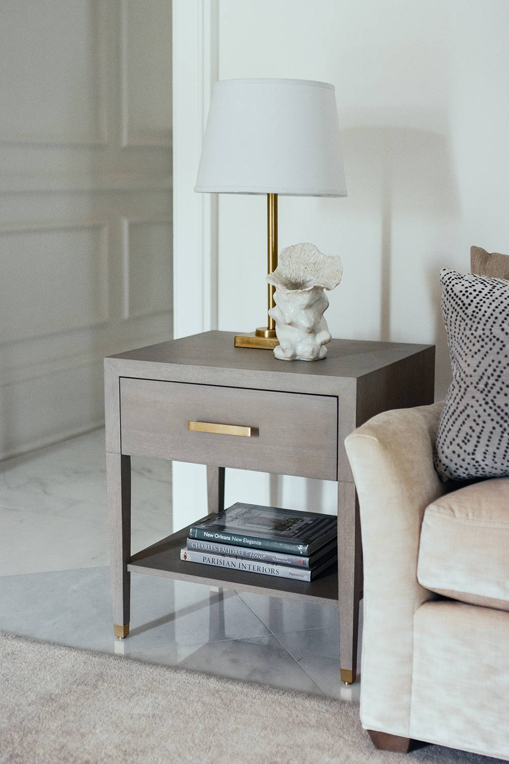 Ave Home | Carlyle End Table in Grey