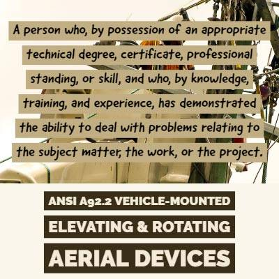ANSI Aerial Lift Training Requirements
