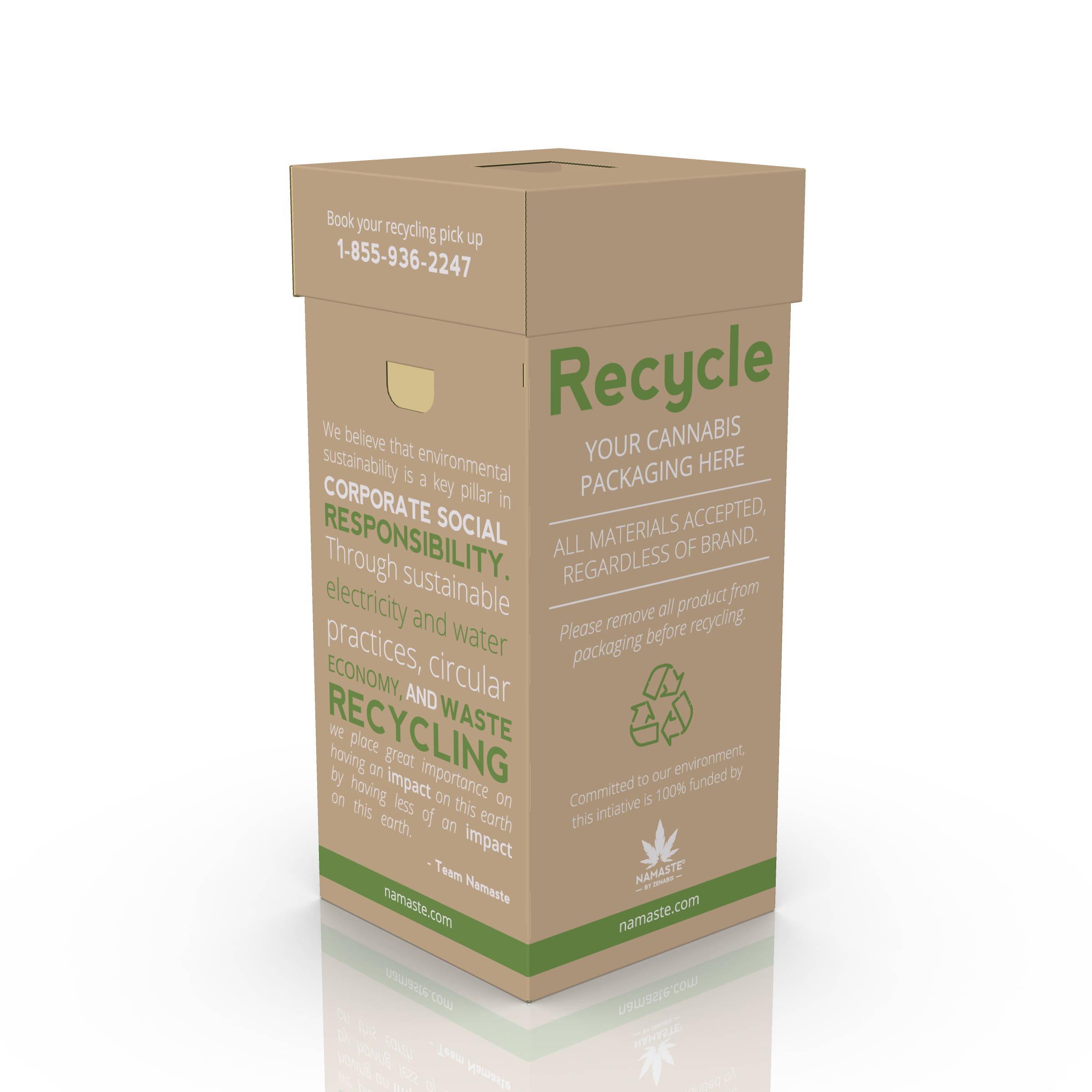 Namaste Retail Recycling Program Bin