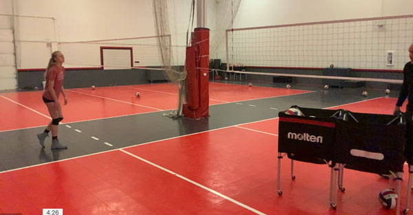 vball swing analysis court position