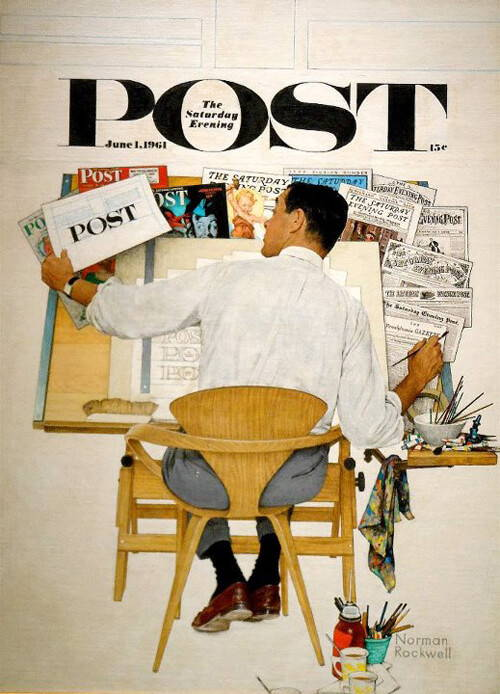 Cherner Chair on cover of Saturday Evening Post