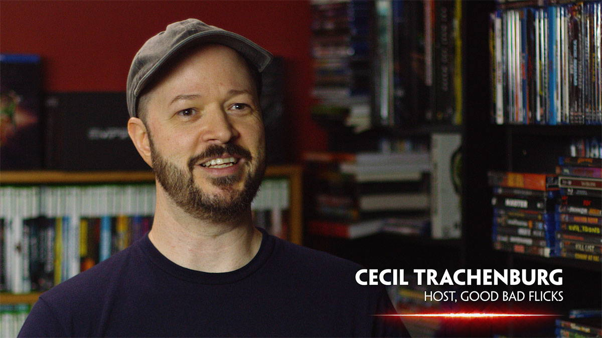 Cecil Trachenburg of Good Bad Flicks being interviewed for In Search of Darkness: Part II
