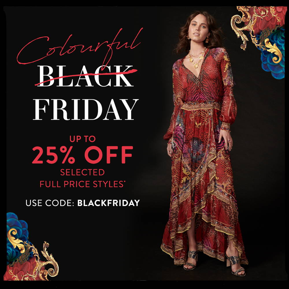 Colourful Black Friday up to 25% off* Use Code: BLACKFRIDAY