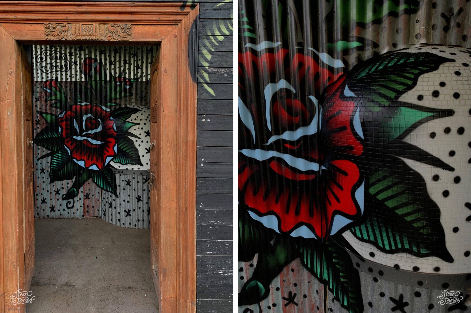 Steen Jones tattoo street graffiti Australia Captain Capel Melbourne VIC mural