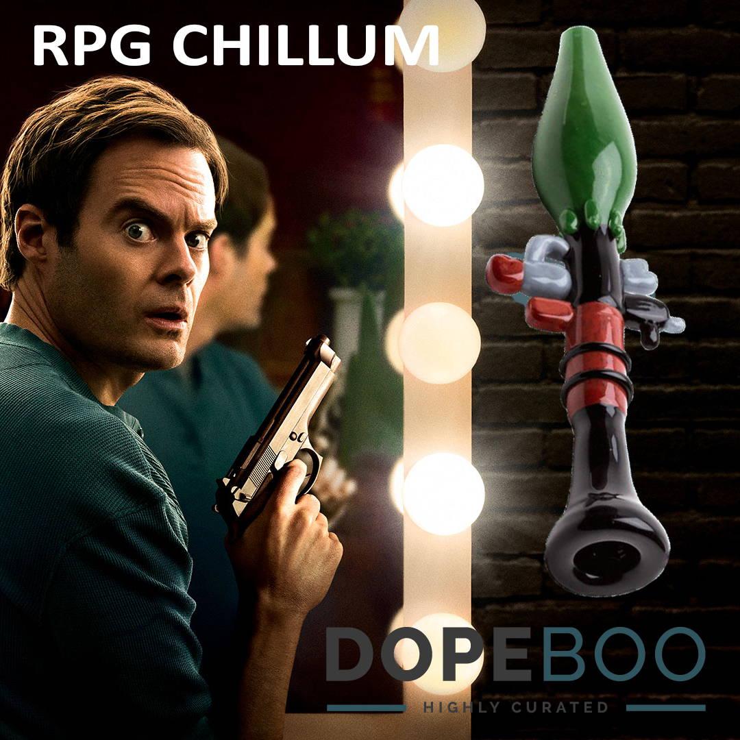 2018 Emmys with Bill Hader in Barry + RPG Gun Chillum at DopeBoo.com
