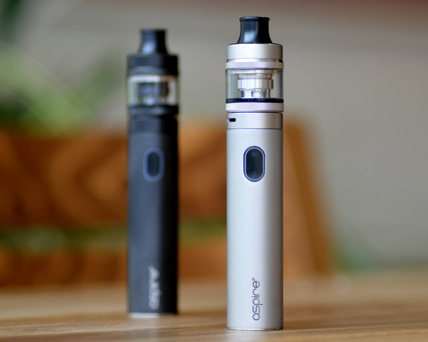 Aspire Tigon Kit in black and silver on a table