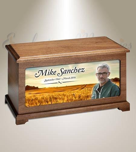Prairie Land Photo Funeral Urn