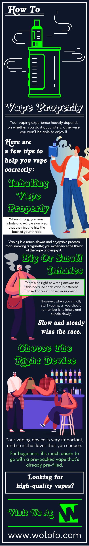 inhaling vape properly