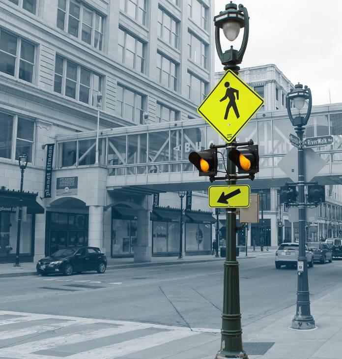 24/7 operation of crosswalk system