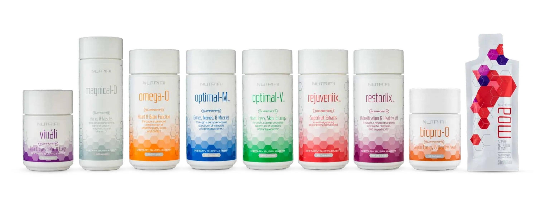 Gamme Nutrifii au complet - Vinali - Magnical-D, Omega-Q - Optimal-M - Optimal-V - Rejuveniix - restoriix  - biopro-q - Moa