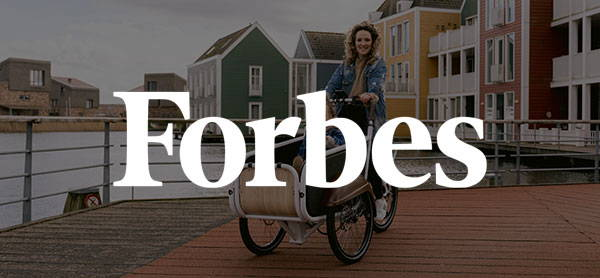 Forbes Logo over Bunch Bike The Coupe