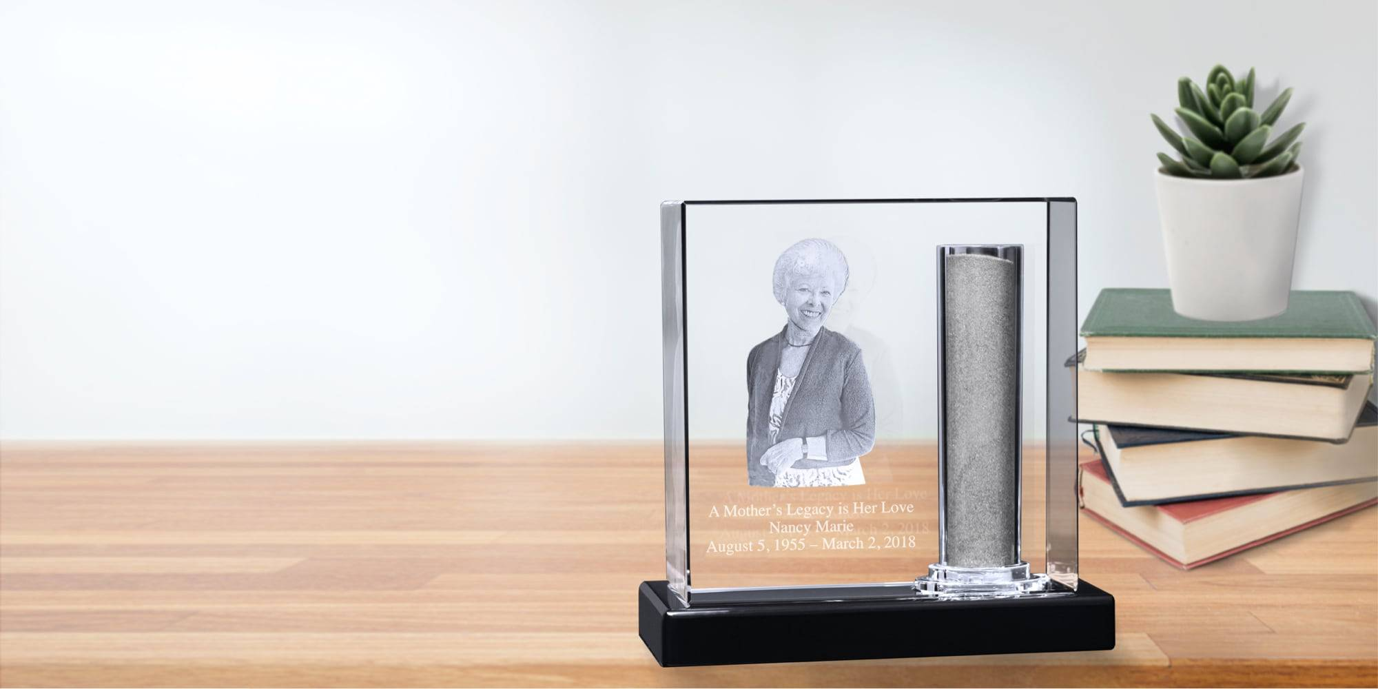 Cremation Memorial Urns with 3D Engraved Photo and Quote