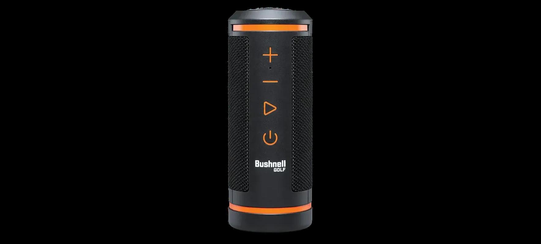 The Bushnell Hybrid golf laser rangefinder plus GPS speaker