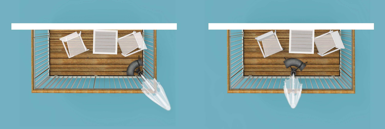 Baser parasolfod designet til altanen