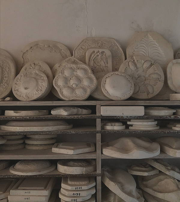 Bourg-Joly Malicorne fine china bowls moulds in their factory