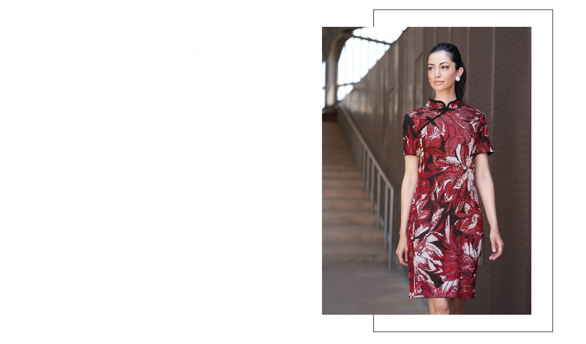 Chinoiserie | Knit Qipao-Style Floral Jaquard Dress