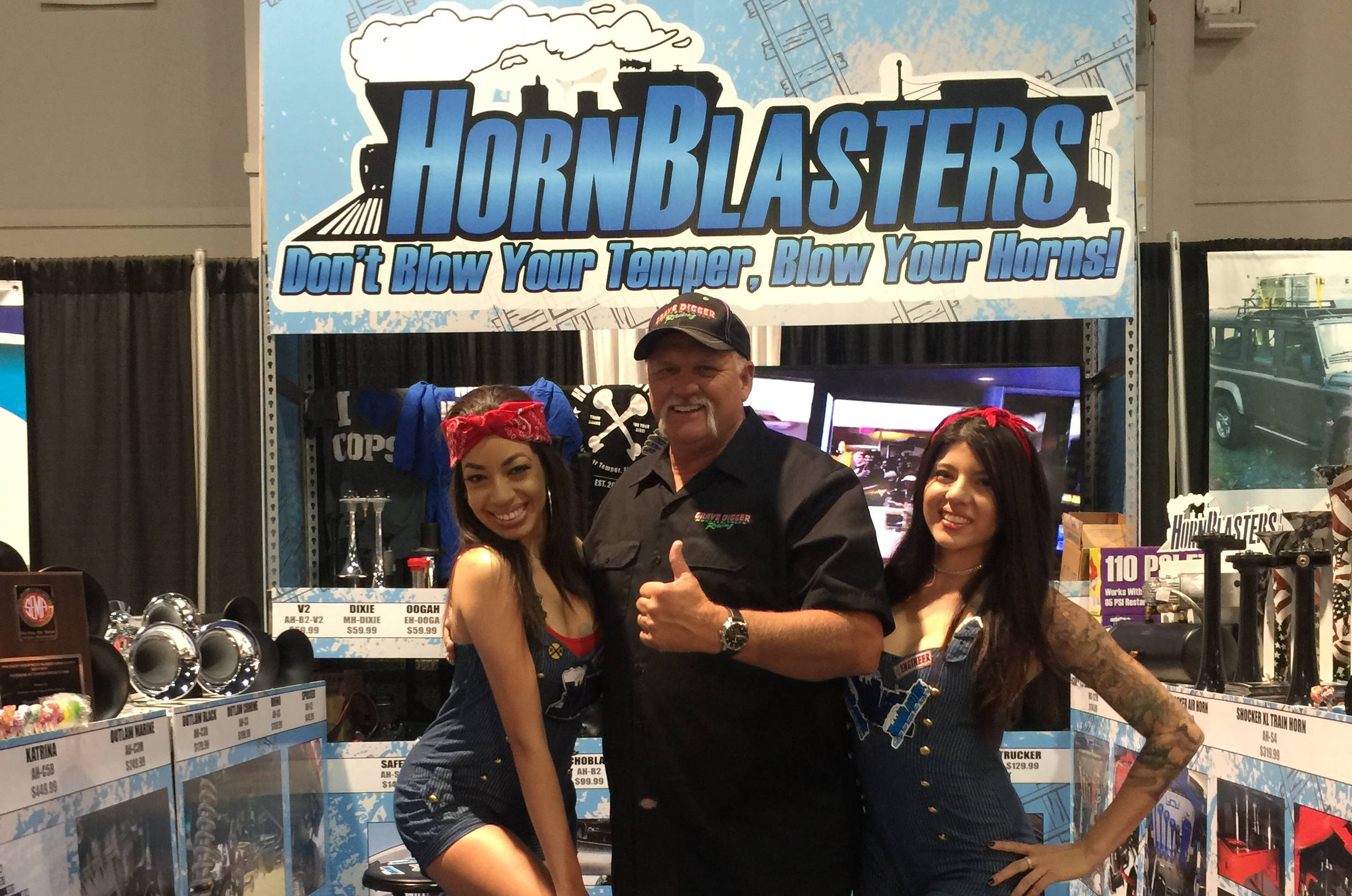 HornBlasters Sema Booth Celebrity Dennis Anderson