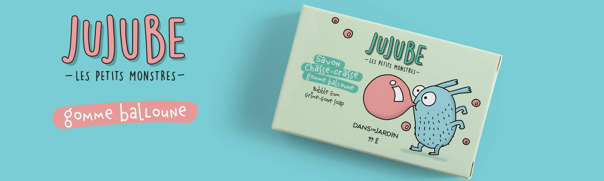 Image de la gamme Gomme balloune de la collection Jujube les petits monstres Dans un Jardin