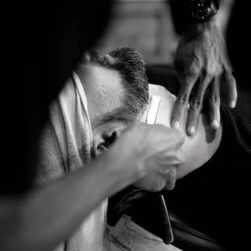 Shaving Neck using Straight Razor