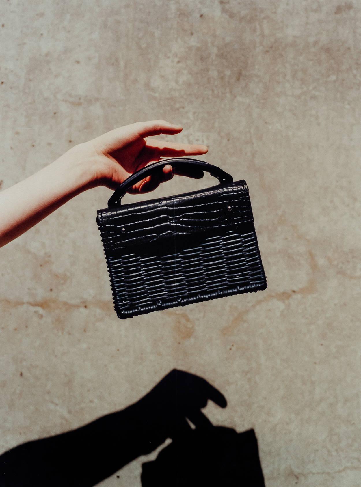 Black Mini Kuai, Wicker Bag, Rattan Bag, Eco Friendly Bag, Wicker Wings, Wicker Wings Bag