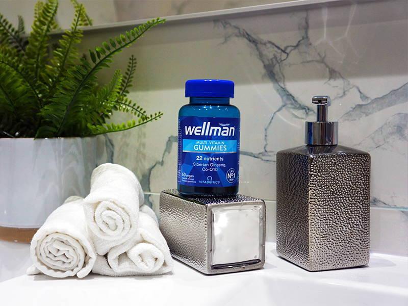 Wellman Gummies In Bathroom