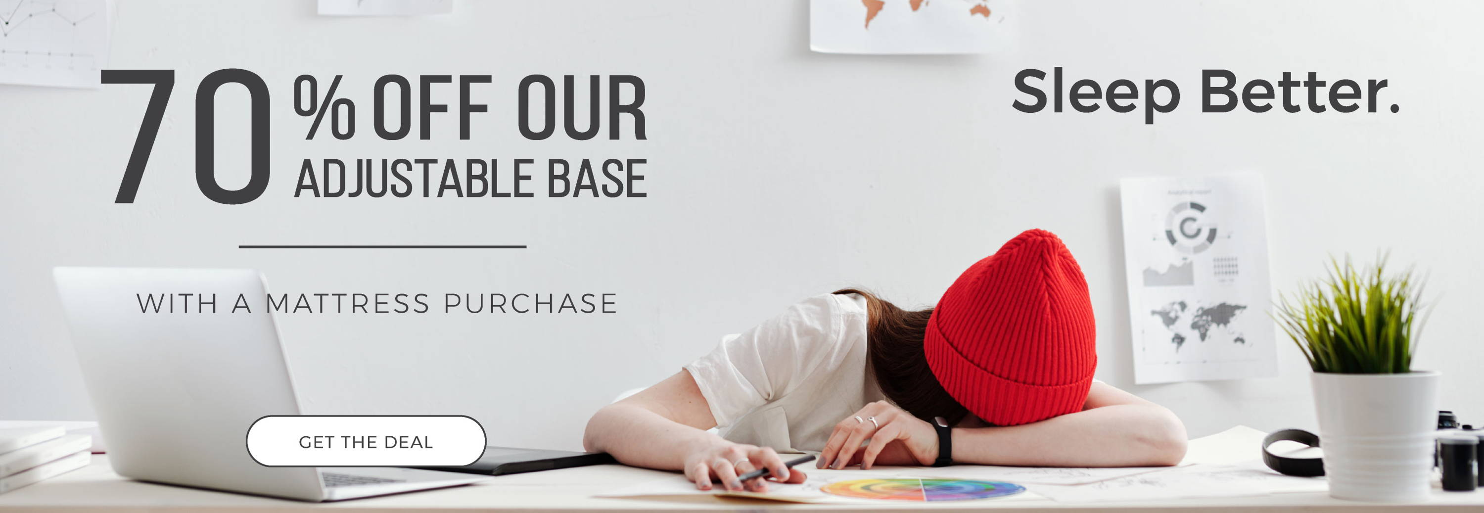 70% off our adjustable base when you purchase a mattress