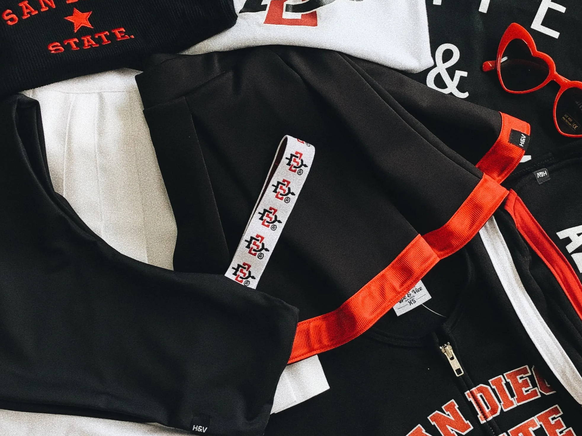San Diego State college apparel for women. Cute and trendy!