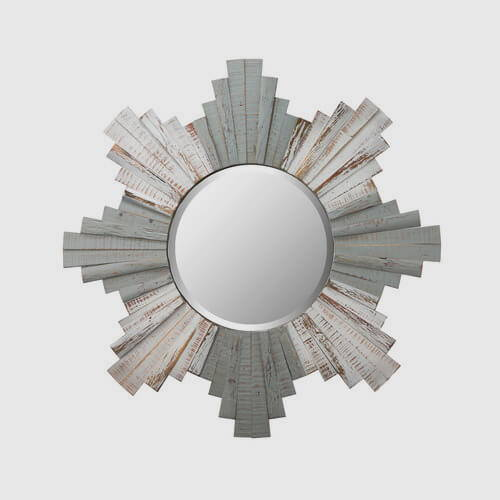 Varaluz Casa Sunburst Wood Mirror