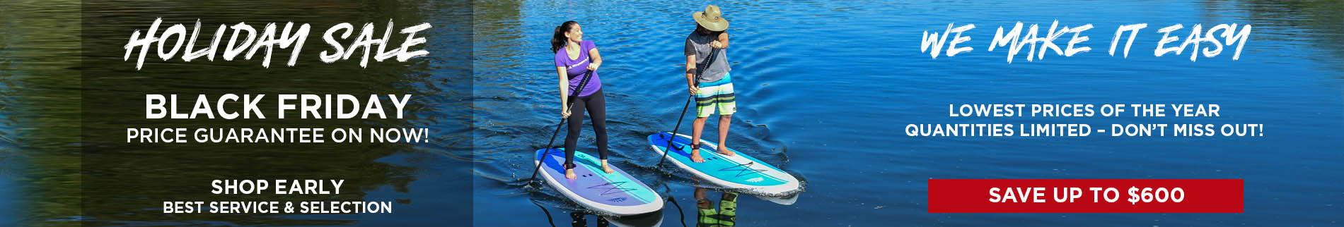 Paddleboard Direct Couple Paddling  Cruiser SUP Dura-Maxx | Holiday Paddle Board Sale