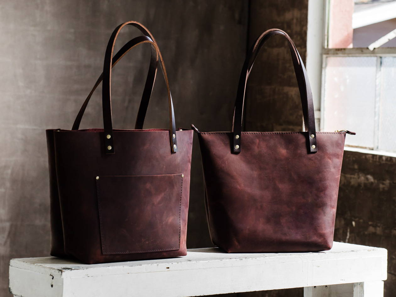 Merlot Classic and Zipper Tote