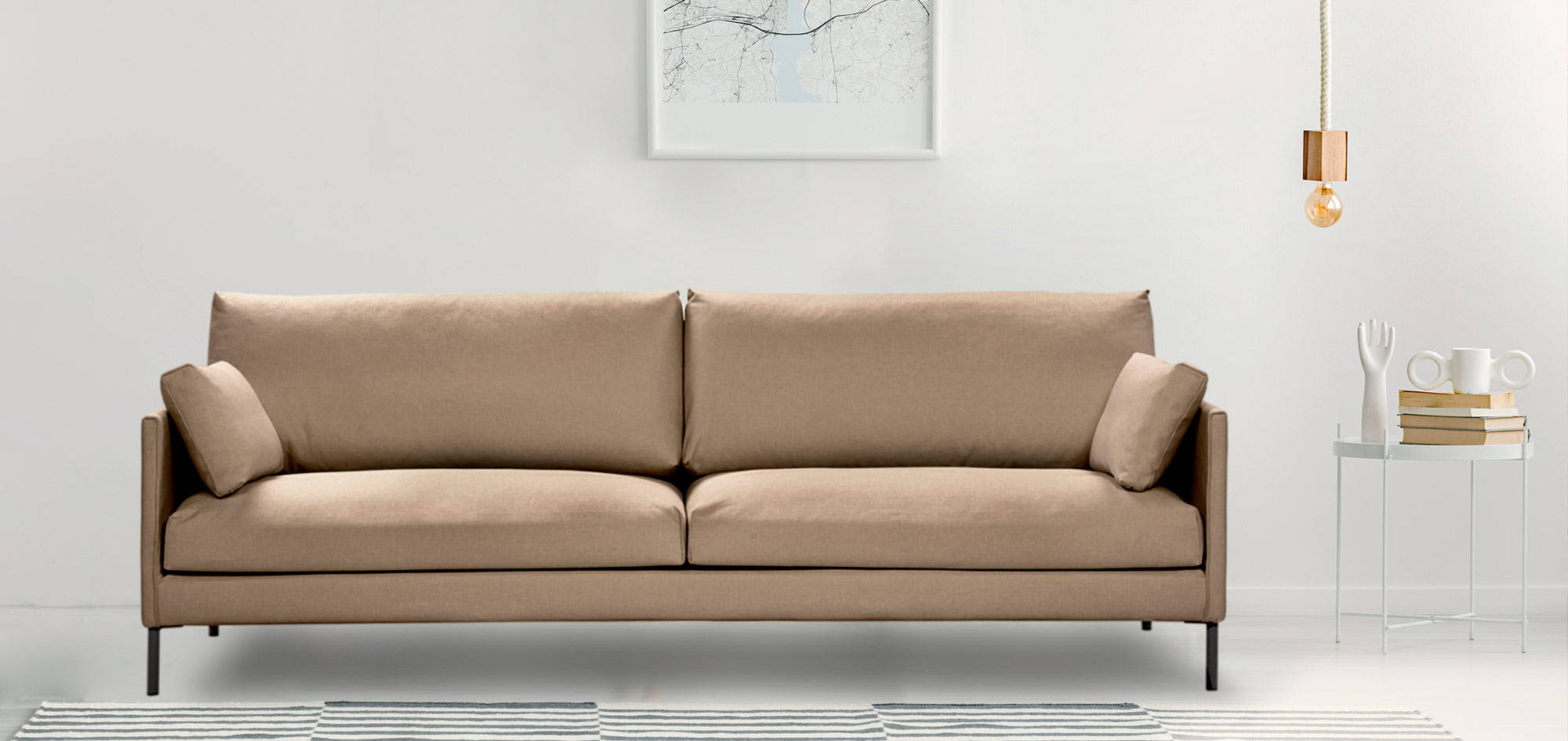 Nordic-sohva, beige kangas. HT Collection