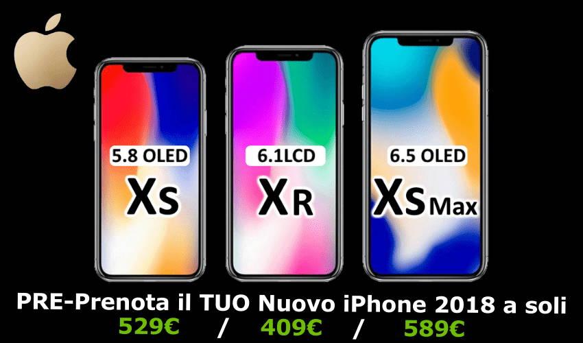 iPhone Xs, Xs Max e XR, a prezzi scontati