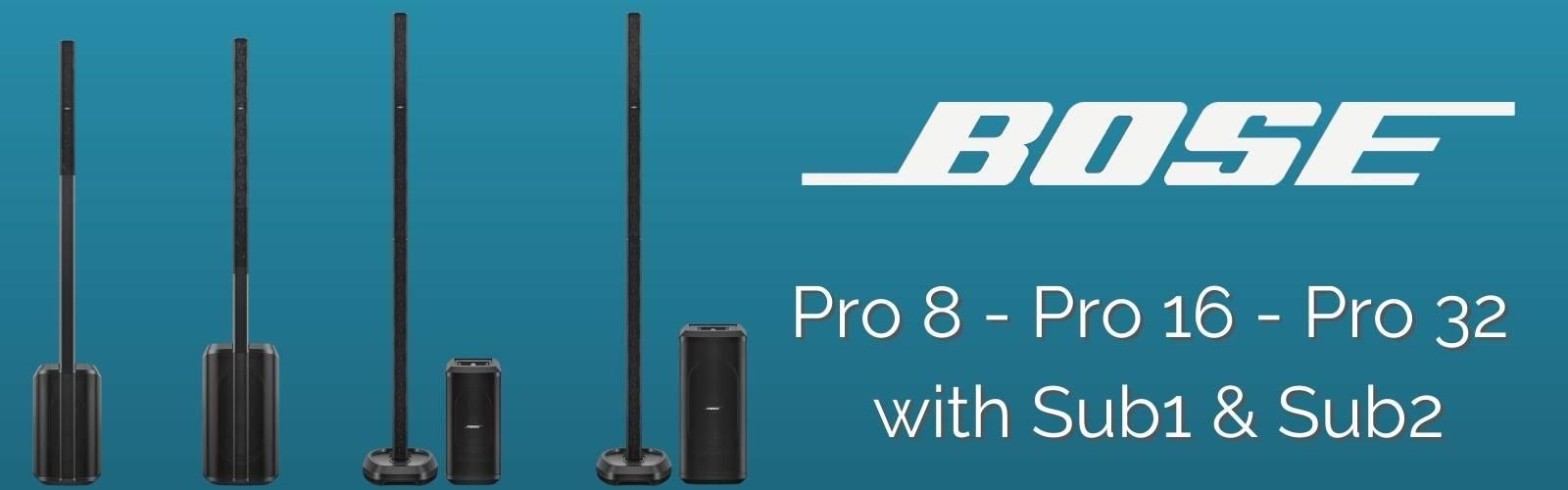 bose l1 pro 8 pro 16 por 32 sub 1 and sub 2  emi audio