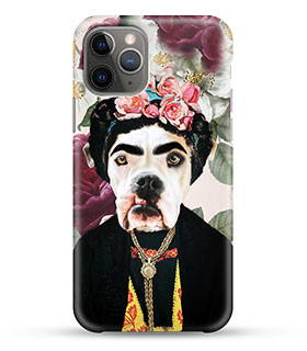 custom pet art in pop icon renaissance art style phone case
