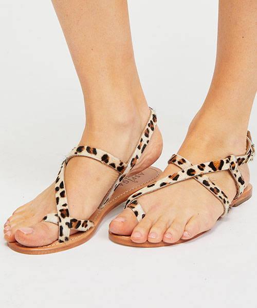 Clarisa Leopard Sandals