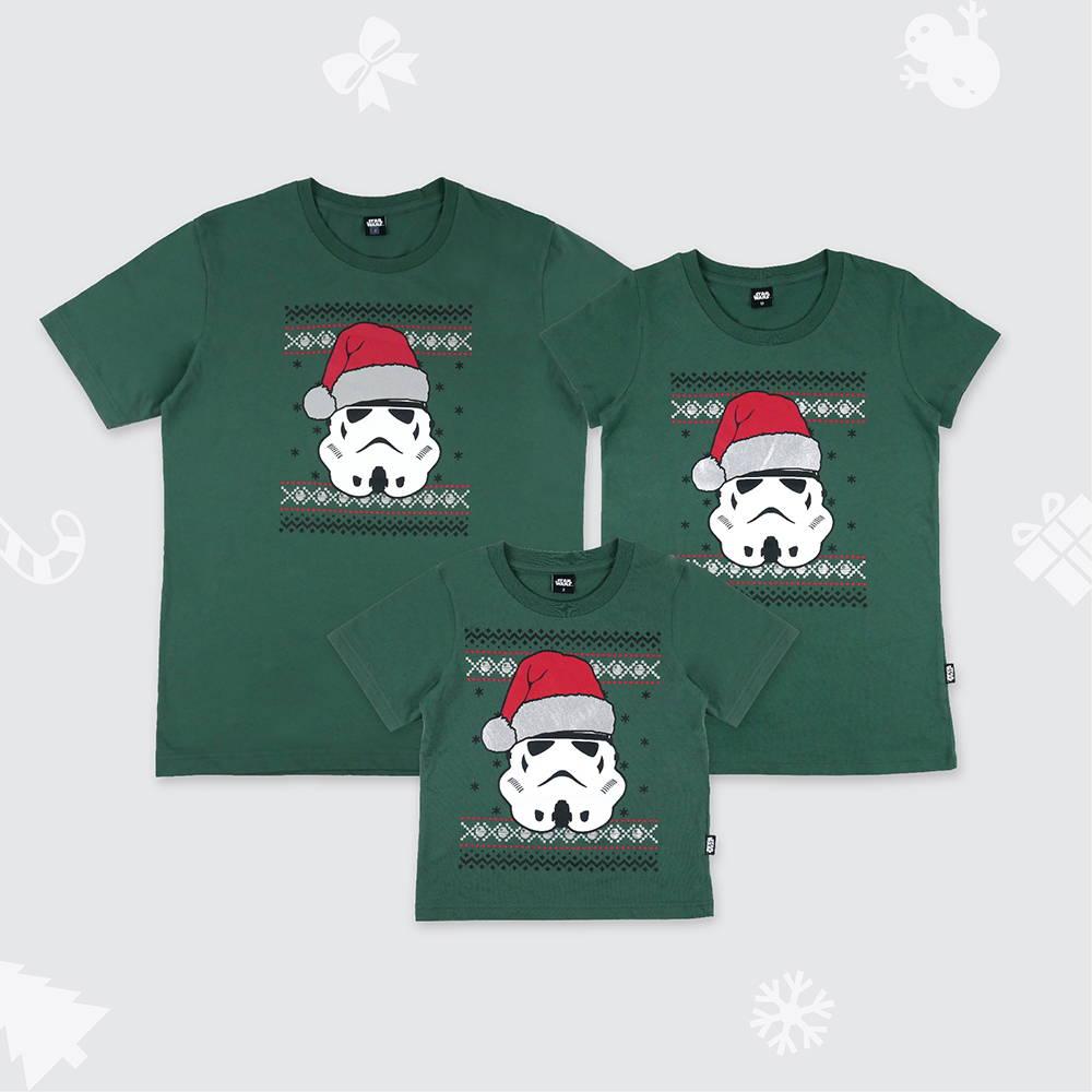 เสื้อครอบครัววันคริสต์มาสลาย Storm Troopers