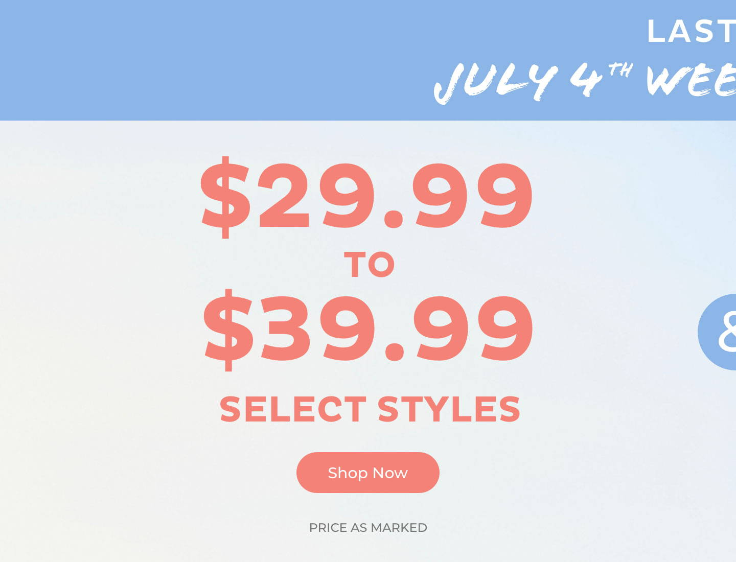 $29.99-$39.99 Select Styles
