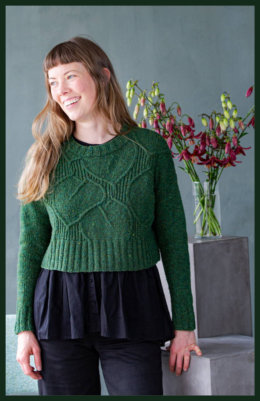 Image of Alyssa modeling Broadleaf