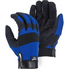Mechanics Gloves with Adjustable Velcro Closure Cuff from X1 Safety