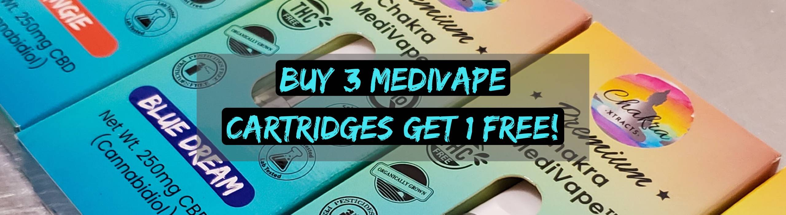 Mix and Match 4 MediVape Cartridges To Your Cart, Discount reflected at Checkout.